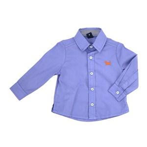 Camisa Infantil / Baby Em Tricoline Importada Com Patch De Cachorrinho - Um Mais Um Royal