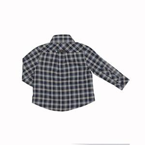 Camisa Infantil / Baby Em Xadrez Com Patch De Cachorrinho - Um Mais Um Royal