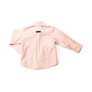 Camisa Infantil / Baby Masculina Em Chambay Oxford Liso - 1+1 Laranja Escuro
