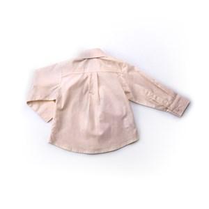 Camisa Infantil / Baby Masculina Em Tricoline Com Lycra - 1+1 Amarelo Canario