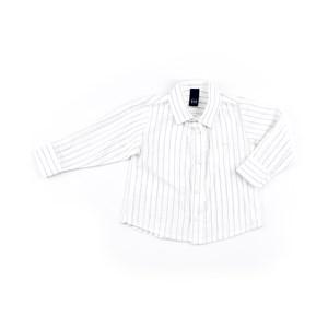 Camisa Infantil / Baby Masculina Listrada - 1+1 Branco