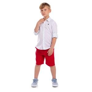 Camisa Infantil Estampa Padrões Azul