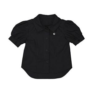 Camisa infantil feminina manga bufante Preto