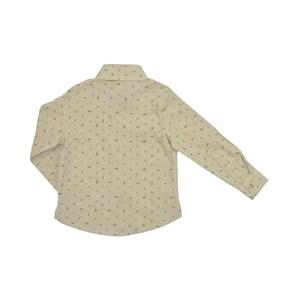 Camisa Infantil / Kids Em Tricoline Com Patch De Cachorrinho - Um Mais Um Bege Claro