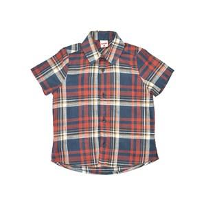 Camisa Infantil / Kids Em Xadrez - Beaba Vermelho