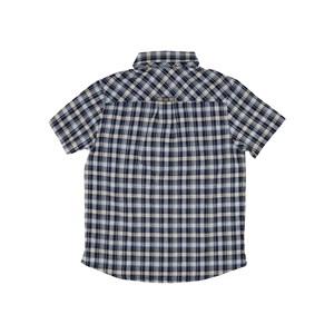 Camisa Infantil / Kids Em Xadrez Com Bordado De Cachorrinho - Um Mais Um Royal