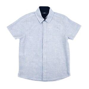 Camisa Infantil / Teen Em Chambray C/Bordado Frontal - Two Azul Claro