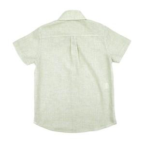 Camisa Infantil / Teen Em Chambray C/Bordado Frontal - Two Verde