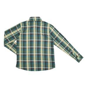 Camisa Infantil / Teen Em Tricoline Xadrez De Algodão C/Bordado Frontal - Two Verde