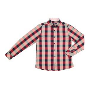 Camisa Infantil / Teen Em Tricoline Xadrez De Algodão C/Bordado Frontal - Two Vermelho