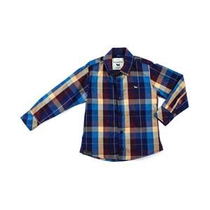 Camisa Infantil / Teen Masculina Xadreza Colorida - 1+1 Vermelho