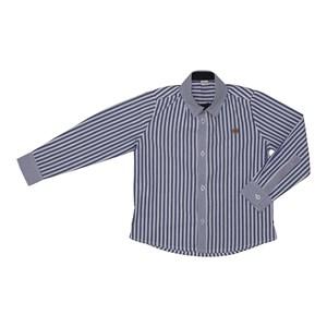 Camisa listrada infantil Marinho