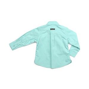 Camisa Masculina Infantil / Baby Em Tricoline Galles - 1+1 Verde Agua