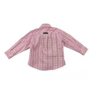 Camisa Masculina Infantil / Baby Em Tricoline Xadrez - Sisplan Vermelho