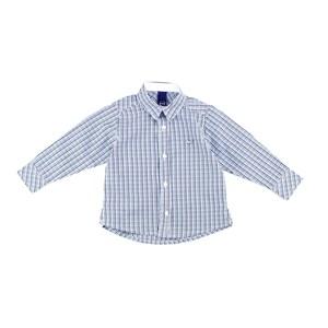 Camisa Masculina Infantil / Baby Em Tricoline Xadrez - Um Mais Um Verde
