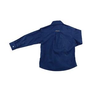 Camisa Masculina Infantil / Kids Em Tricoline - 1+1 Marinho