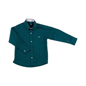 Camisa Masculina Infantil / Kids Em Tricoline - 1+1 Verde