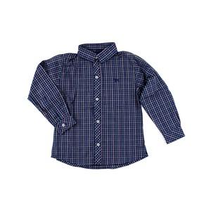 Camisa Masculina Infantil / Kids Em Tricoline Galles - Um Mais Um Verde