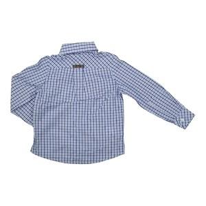 Camisa Masculina Infantil / Kids Em Tricoline Xadrez Com Entretela - Um Mais Um Royal
