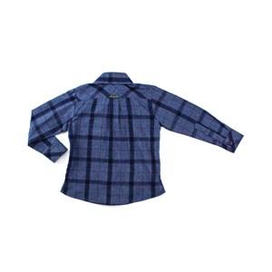 Camisa Masculina Infantil / Kids Em Tricoline Xadrez - Um Mais Um Marinho