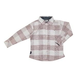 Camisa Masculina Infantil / Kids Em Tricoline Xadrez - Um Mais Um Vinho