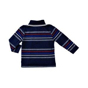 Camisa Polo Infantil Masculina Maga Longa Listrada - 1+1 Marinho