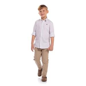 Camisa Quadriculada Infantil Amarelo Canario