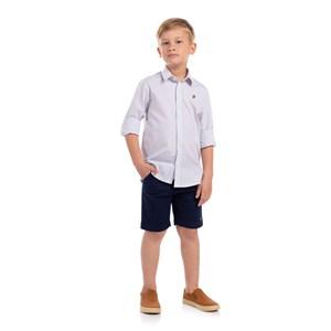 Camisa Quadriculada Infantil Vermelho