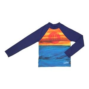 Camiseta De Proteção Masculina Estampada Marinho