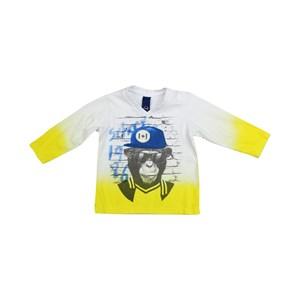 Camiseta Infantil / Bady Modelo Masculina Em Malha Comfort - 1+1 Amarelo Canario