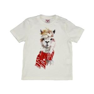 Camiseta Infantil / Kids Em Meia Malha Penteada Com Estampa Frontal - Beaba Cru