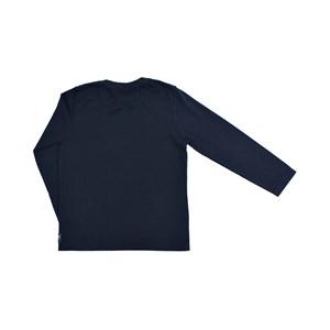 Camiseta Infantil Masculina Maga Longa Com Estampa Estilo Rock'N Roll - 1+1 Marinho
