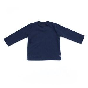 Camiseta Masculina Infantil / Baby Em Malha Penteada - Um Mais Um Marinho
