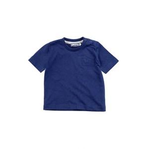 Camiseta Masculina Infantil / Baby Manga Curta Em Malha Penteada - 1+1 Marinho