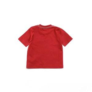 Camiseta Masculina Infantil / Baby Manga Curta Em Malha Penteada - 1+1 Vermelho