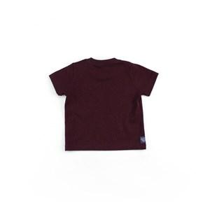 Camiseta Masculina Infantil / Baby Manga Curta Em Malha Stone Peletizada - Um Mais Um Vinho