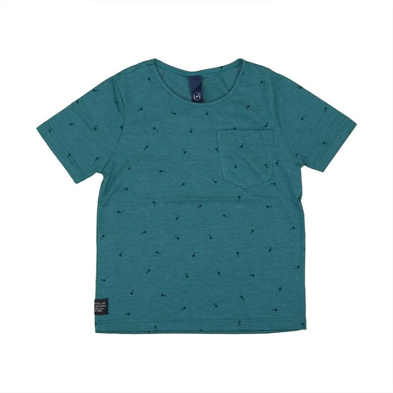 Camiseta masculina infantil / kids em malha stonada VERDE