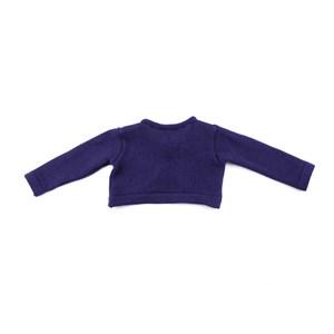 Casaco De Tricot Feminino Infantil / Baby Com Laço Em Fio Seridó - 1+1 Marinho