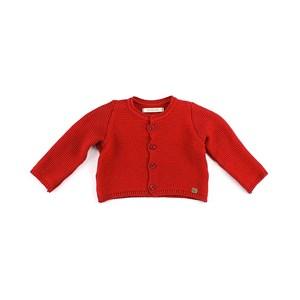 Casaco De Tricot Feminino Infantil / Baby Em Fio Seridó - 1+1 Vermelho