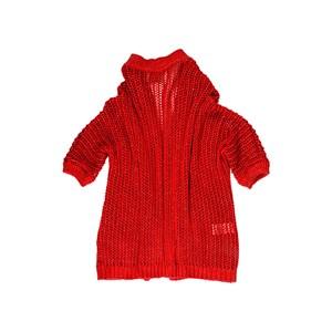 Casaco De Tricot Feminino Infantil / Teen Em Fio Lurex - Twoin Vermelho