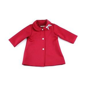 Casaco Feminino Infantil / Baby Com Laço Na Gola Em Neoprene Liso - 1+1 Vermelho