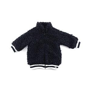 - Casaco Feminino Infantil / Baby Em Cetim Charmeuse - 1+1 Preto