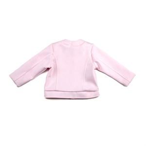 Casaco Feminino Infantil / Baby Em Neoprene Liso E Helanquinha Para Forro - 1+1 Rosa Claro