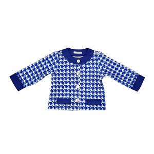 Casaco Infantil / Baby Em Malha Casinha De Abelha Estampado - Um Mais Um Royal