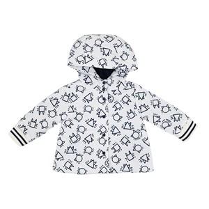 Casaco Infantil / Baby Em Nylon Empapelado Estampado - Um Mais Um Branco