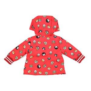 Casaco Infantil / Baby Em Nylon Empapelado Estampado - Um Mais Um Vermelho