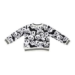 Casaco Infantil / Baby Em Tricot Estampado - Um Mais Um Preto