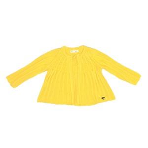 Casaco Infantil / Baby Em Tricot - Um Mais Um Amarelo Canario