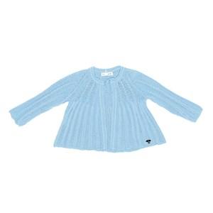 Casaco Infantil / Baby Em Tricot - Um Mais Um Azul Claro