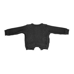 Casaco Infantil / Baby Em Tricot - Um Mais Um Preto